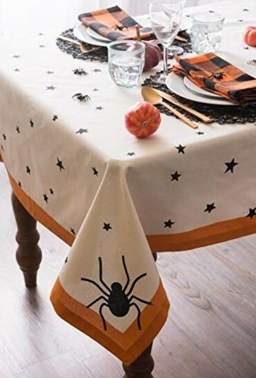 DII Round Tablecloth, Perfect for Halloween, Par