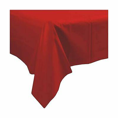 GFCC x -inch Red Rectangular Party Table Cloth Cover