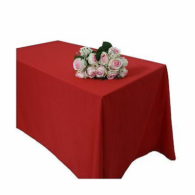GFCC x -inch Red Rectangular Party Wedding Cover