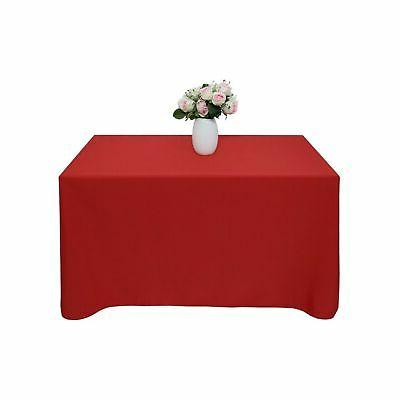 GFCC 70 -inch Red Tablecloth Party Wedding Table Cover