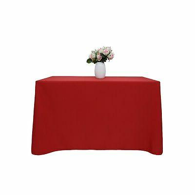 70 x 120 inch red rectangular tablecloth