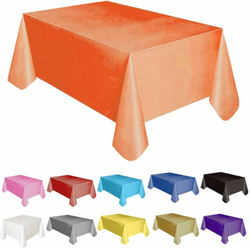 """72""""*54"""" Plastic Rectangle Cover Cloth Wipe Party"""