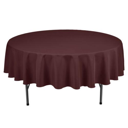 "VEEYOO 90"" Linen Table Cover Weddings Party"