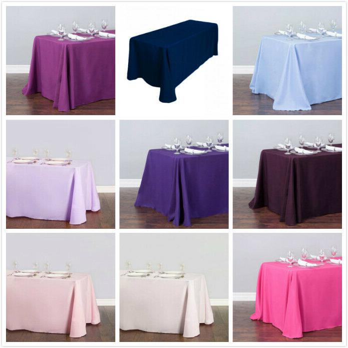 LinenTablecloth x in. Poly 33 Colors! Wedding Event