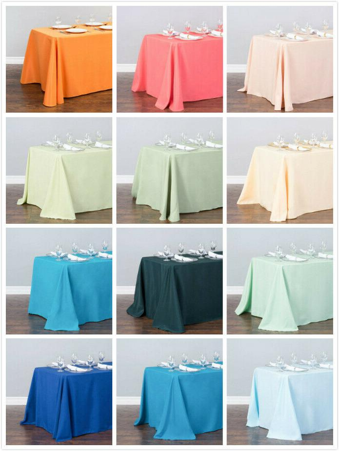 1/10 Pcs 90 132 Polyester Linen Wedding Party