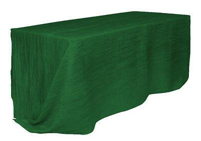 90 x 132 inch rectangle crinkle tablecloth
