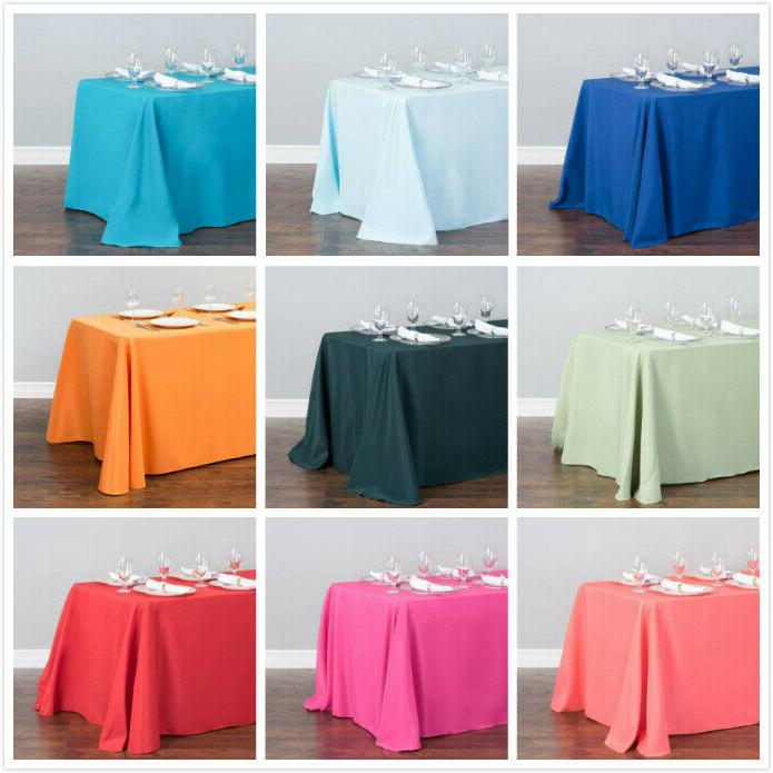 1/10 Pcs 132 Polyester Linen Tablecloth Party