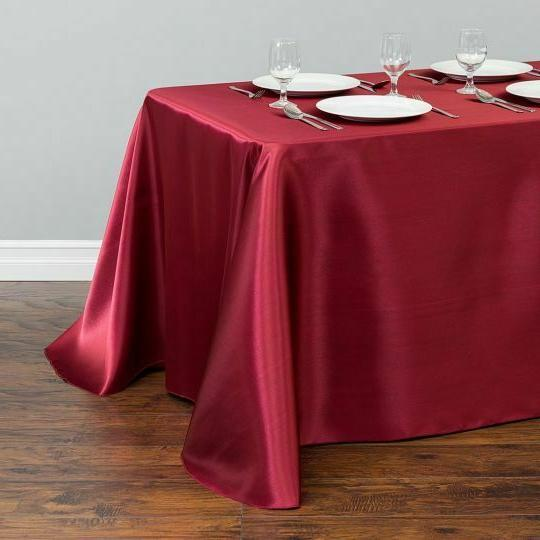 LinenTablecloth 90x132 in. Satin Wedding Event