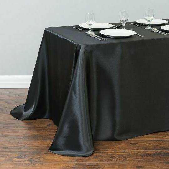 LinenTablecloth in. Satin Tablecloth Wedding Event