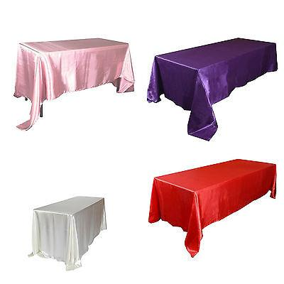"90x132"" Tablecloth Wedding Table Banquet Party Decor"