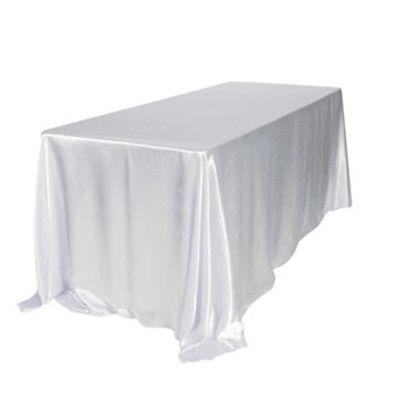 "90x132"" Satin Wedding Table Cover Banquet Party Decor"