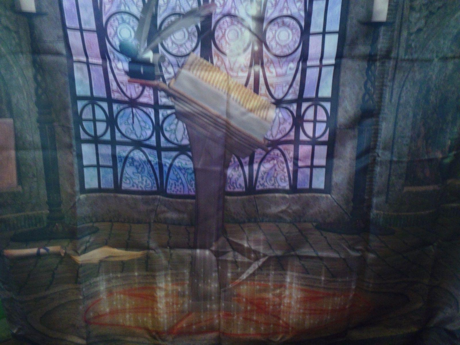 AMBESONNE TABLECLOTH HOUSE DECOR GOTHIC WINDOW BOOK LILAC