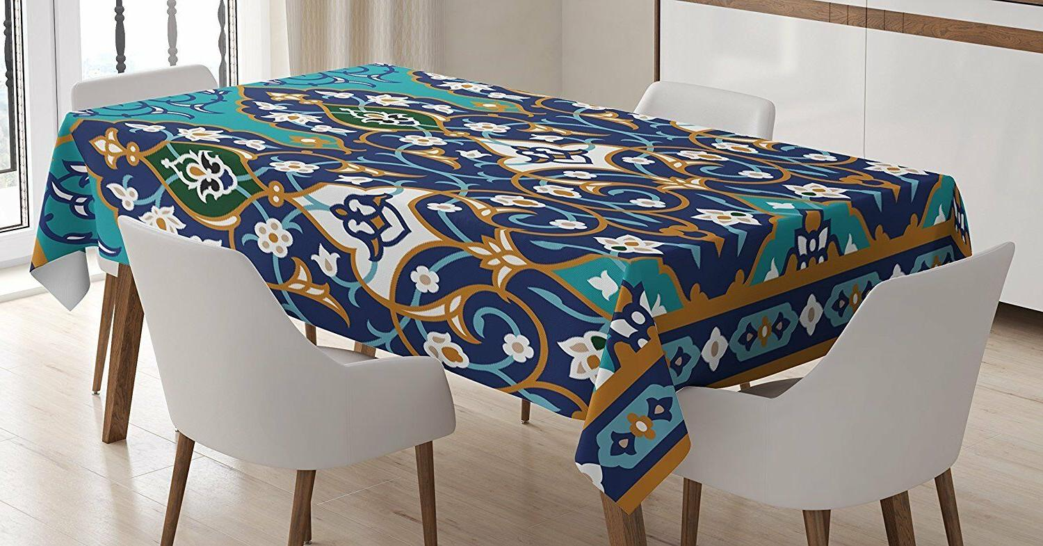 Ambesonne Tapestry Hanging / Tablecloth / Blue Turquoise