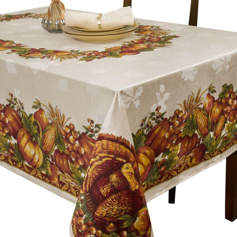 Benson Mills Harvest Engineered Tablecloth,