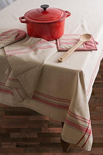 DII 100% Machine Washable, Everyday Kitchen Tablecloth For Parties, & Outdoor Picnics Seats to People,