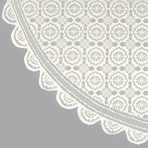DII Polyester, Machine Washable, Chic, Tablecloth Overlay Vintage Lace Cream