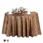 Eforcurtain Round 120 Inch 100% Polyester Tablecloth Jacquar