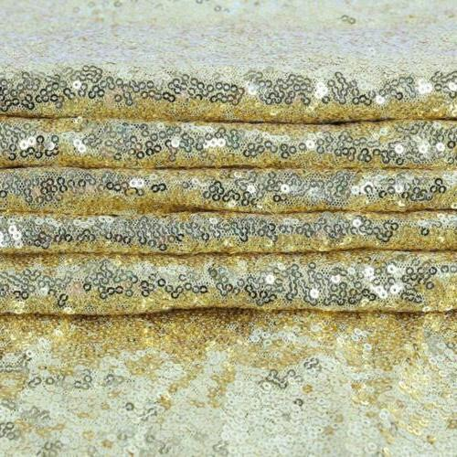 GFCC Gold Sequin Cloth, Round Wedding Cover