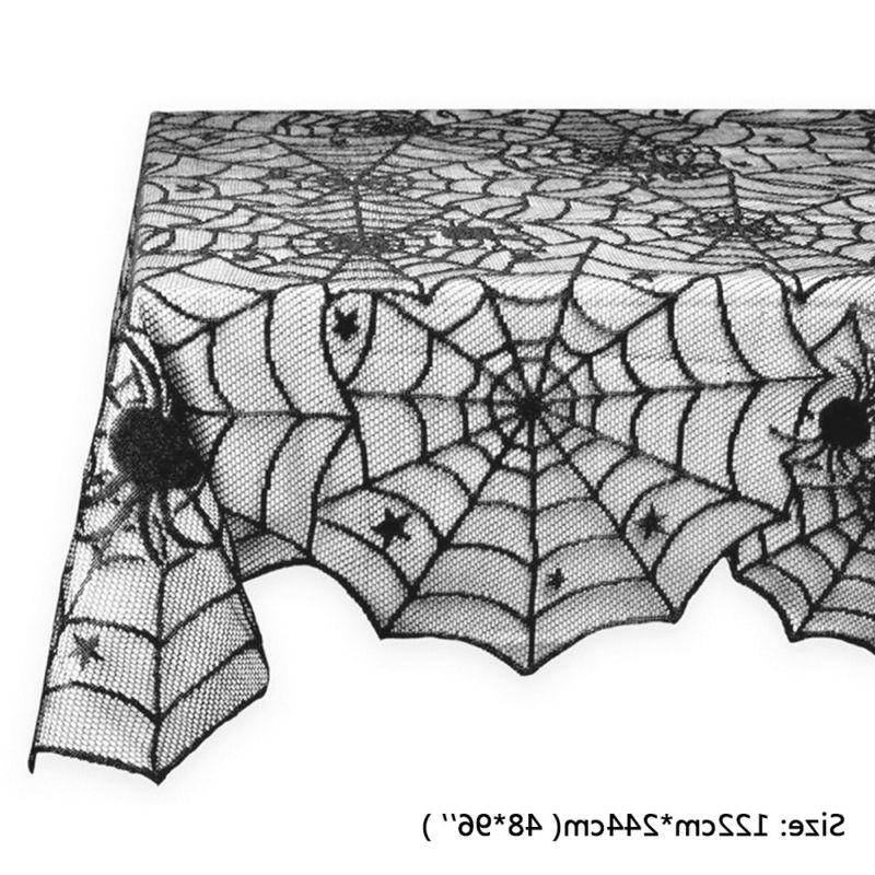 Lace Table Cover Halloween Party Lacey Cobweb Webs