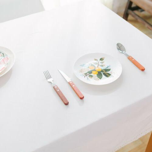 US Plain Cotton Table Cloth Haus Decor