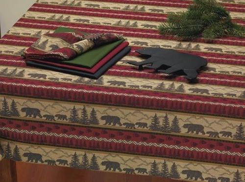 Tablecloth Square DII Jacquard Great Outdoors Cabin Black Be