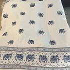 Thai Elephant Print Table Cloth Square Multi-Functional Cove