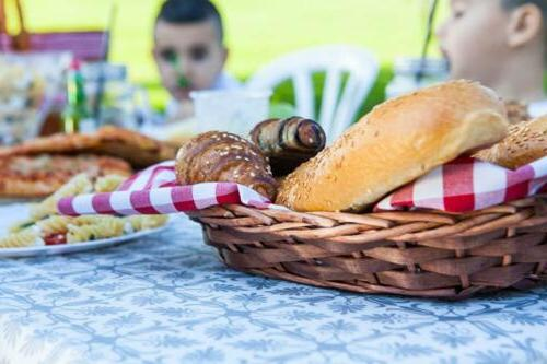 TopTableCloth Patterned Elastic on corner folding 6ft Fitted put Table Cloth Picnics, Outdoor