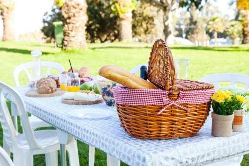TopTableCloth Patterned on corner for folding 6ft Elastic Edge Fitted put Table Cloth Picnics, Outdoor