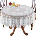 "WHITE LACE 70"" ROUND TABLE CLOTH LINENS TABLECLOTH"