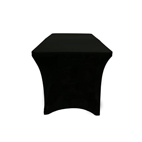 """Your Chair Stretch for Ft Rectangular 30"""" Height Tablecloth Standard Black"""