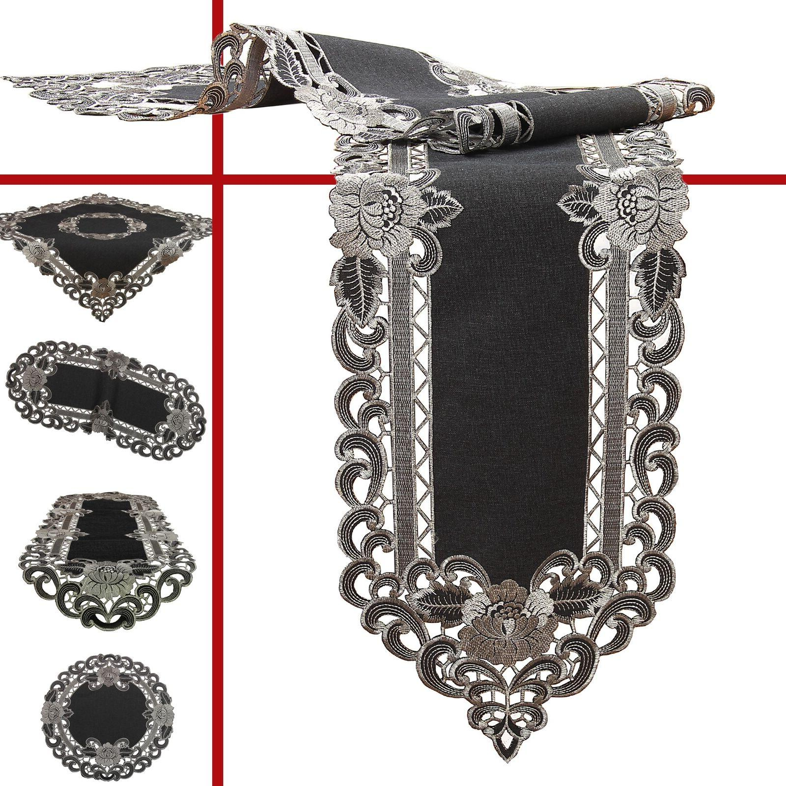 amazing grey tablecloth table runner placemats doily