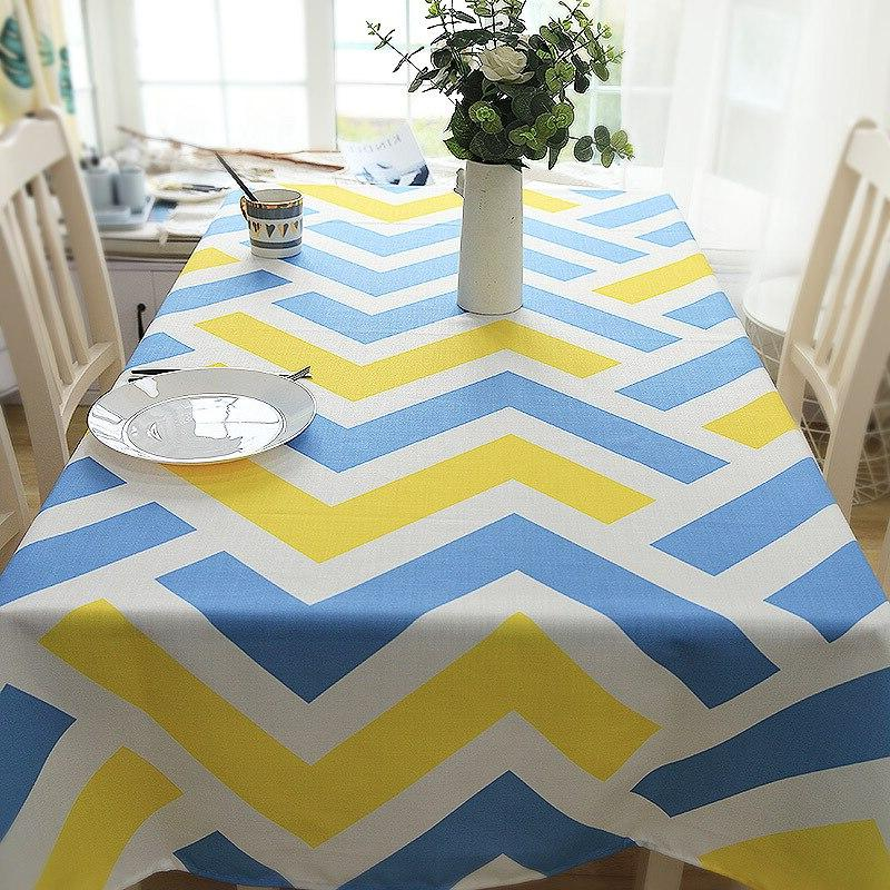 american style ripple decorative table cloth cotton