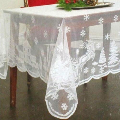 Antique Lace Tablecloth Round Table Wedding Party