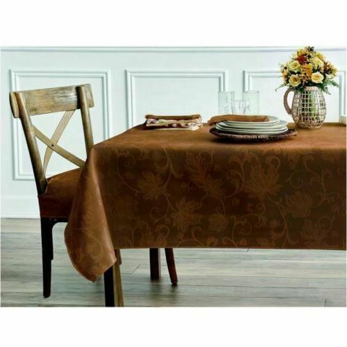 Autumn Damask Tablecloth in of