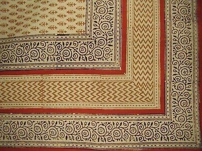 bagru block print square cotton