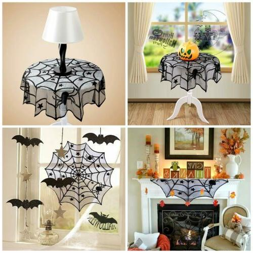 Black Cloth Cover Window Horror Halloween Party Home Decor