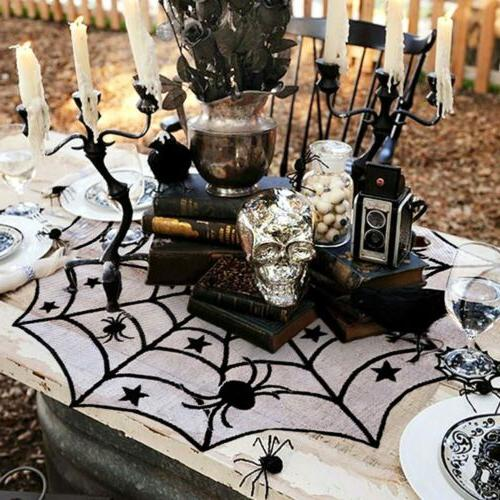 Black Lace Cloth Window Halloween Party Home