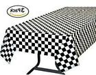 Pack of 3, Black White Checkered Flag Table Cover Party Favo