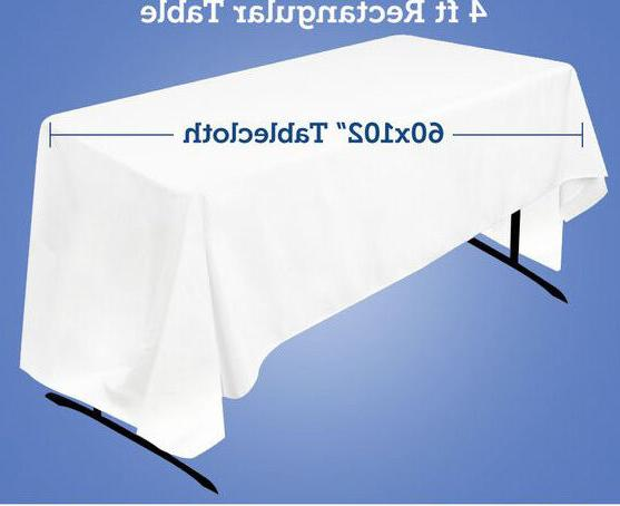"""Polyester Tablecloth Rectangular Seamless 54X72"""" By Broward"""