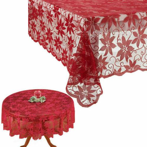 Christmas Cloth Lace Cover Holiday Decor US