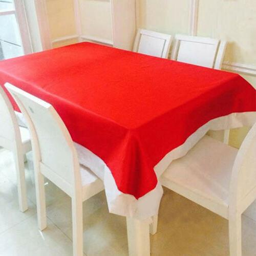 Christmas Red Table Cloth Cover Decor Tablecloth Holiday Xma