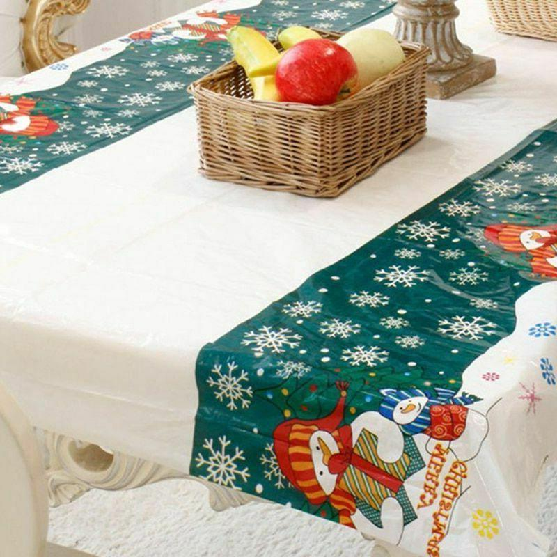 Christmas Tablecloth Home Kitchen Table Decorations New