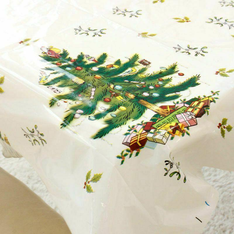 Christmas Tablecloth Home Kitchen Decorations New