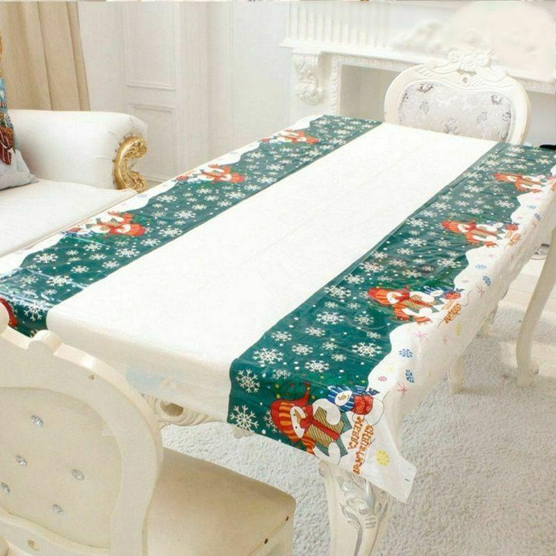 Christmas Tablecloth Home Kitchen Decorations