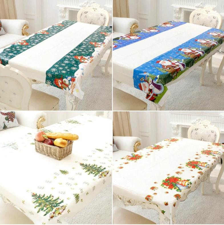 Christmas Tablecloths Home Kitchen Dining Decor Linens