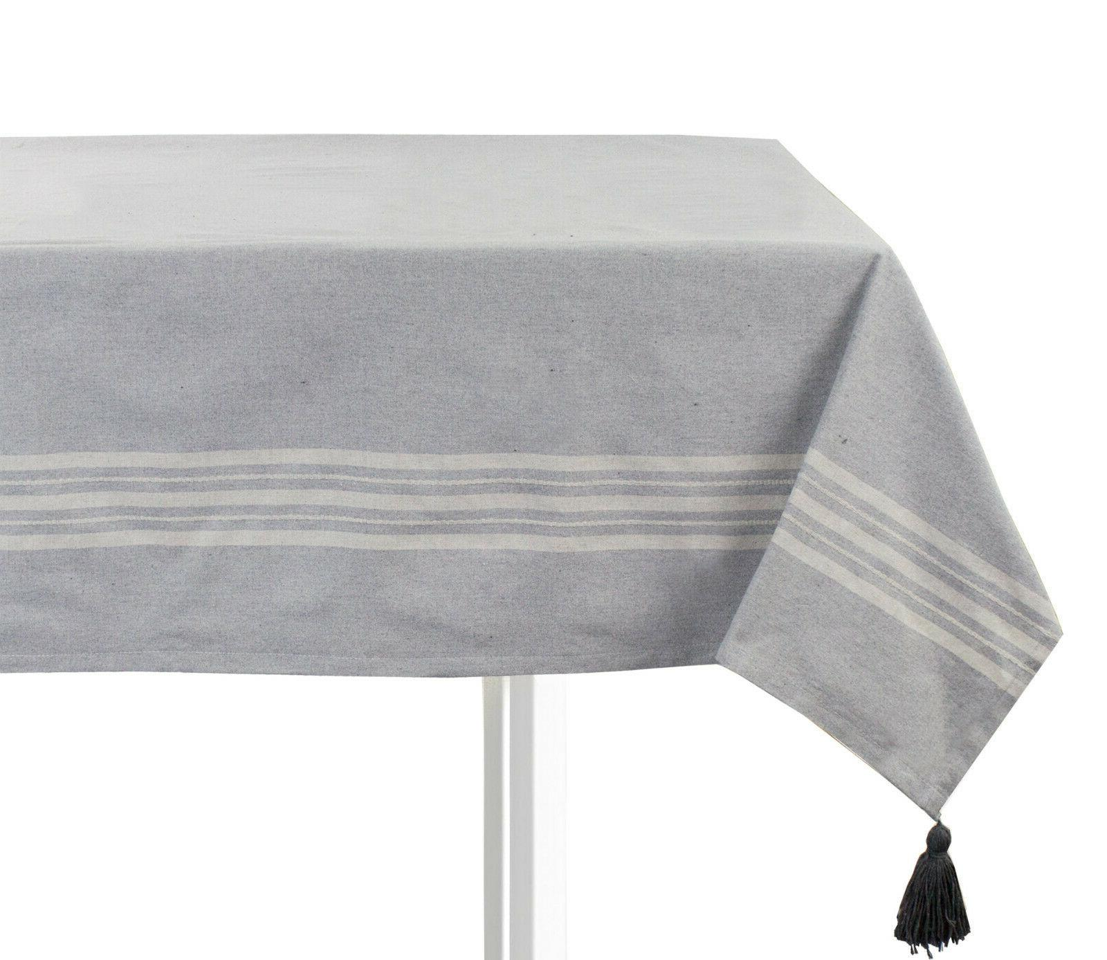 classic stitched grey tablecloth pillow 3 sizes