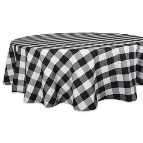 DII Cotton Buffalo Check Plaid Round Tablecloth for Family D