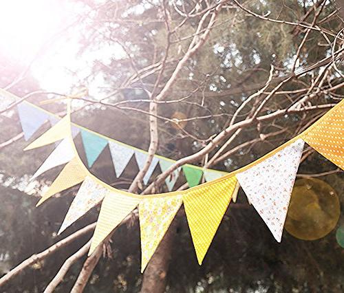 Black Cotton Cloth Pennant Party Banner Flags Hanging
