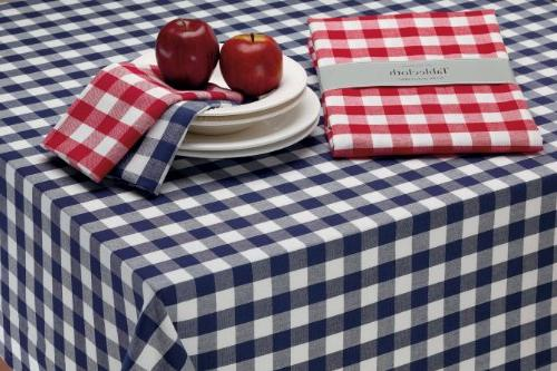 "DII 60x84"" Cotton Tablecloth, & Check Perfect Spring, Décor, or Everyday"