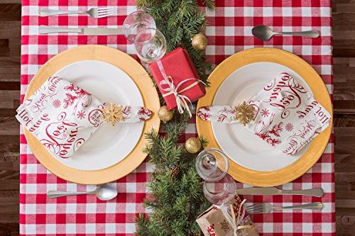 DII Tablecloth, & White Check Perfect Décor,